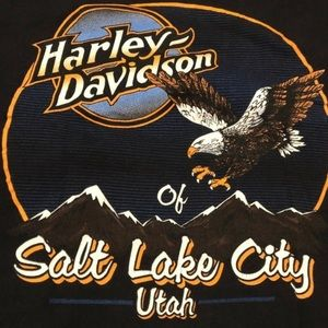 VINTAGE Harley Davidson Single Stitch Utah Shirt